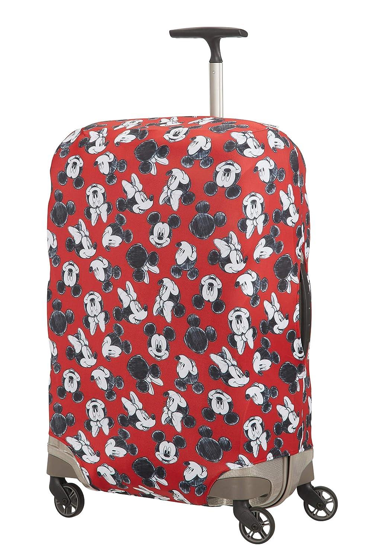 Samsonite Global Travel Accessories Disney - Funda para Maleta en Lycra, M, Rojo (Mickey/Minnie Red)