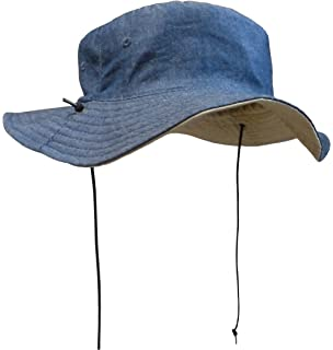 8465615503b N Ice Caps Kids Reversible Adjustable Cotton Twill Aussie Sun Protection Hat
