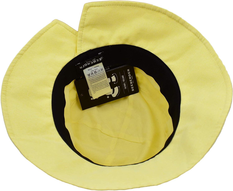 Seeberger Sombrero Cloche Chambry de Verano Guantes Tela