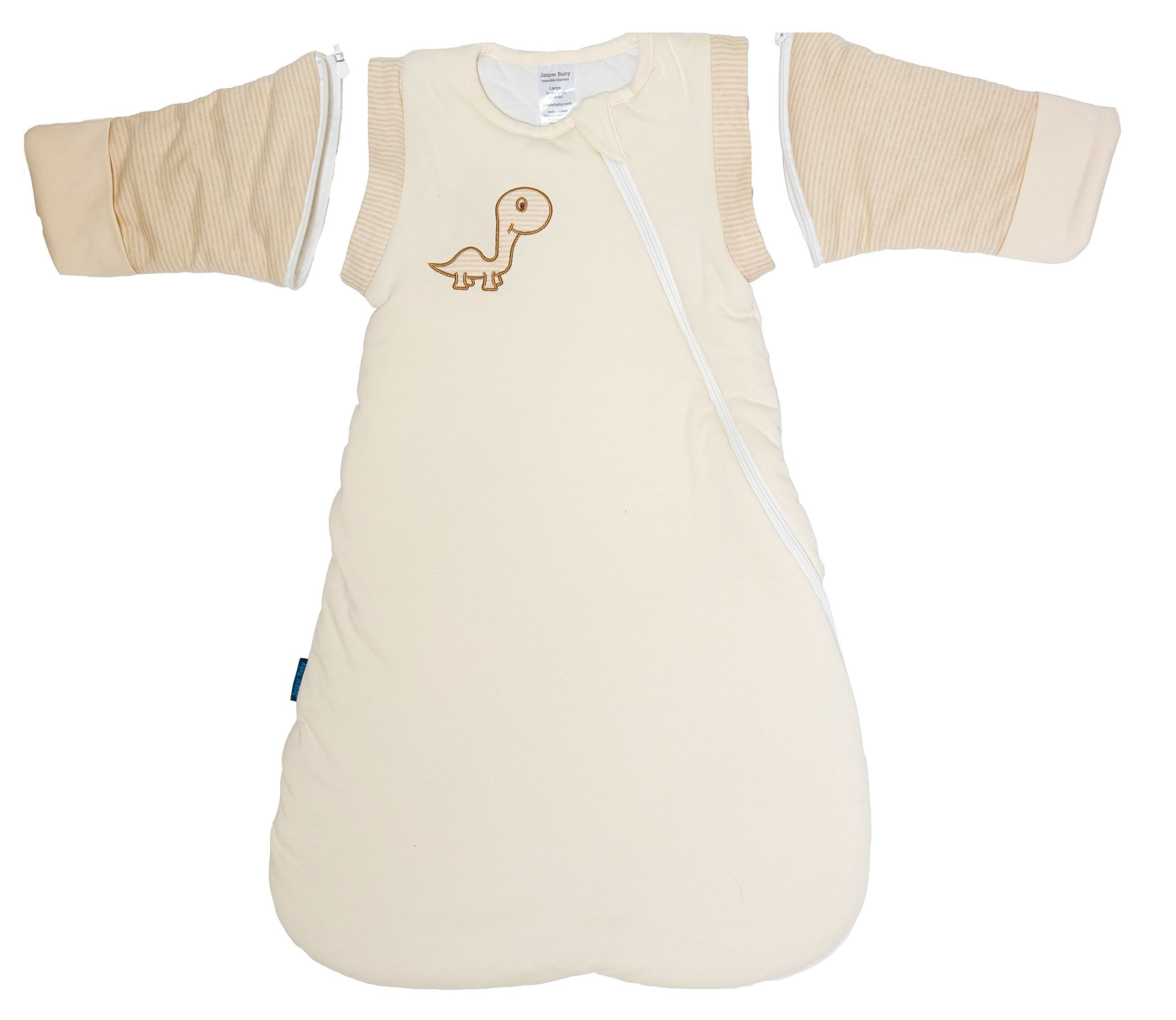 Jasper Baby Attachable Long Sleeves Winter Luna Wearable Blanket (XLarge 20-26 Months) by Jasper Baby