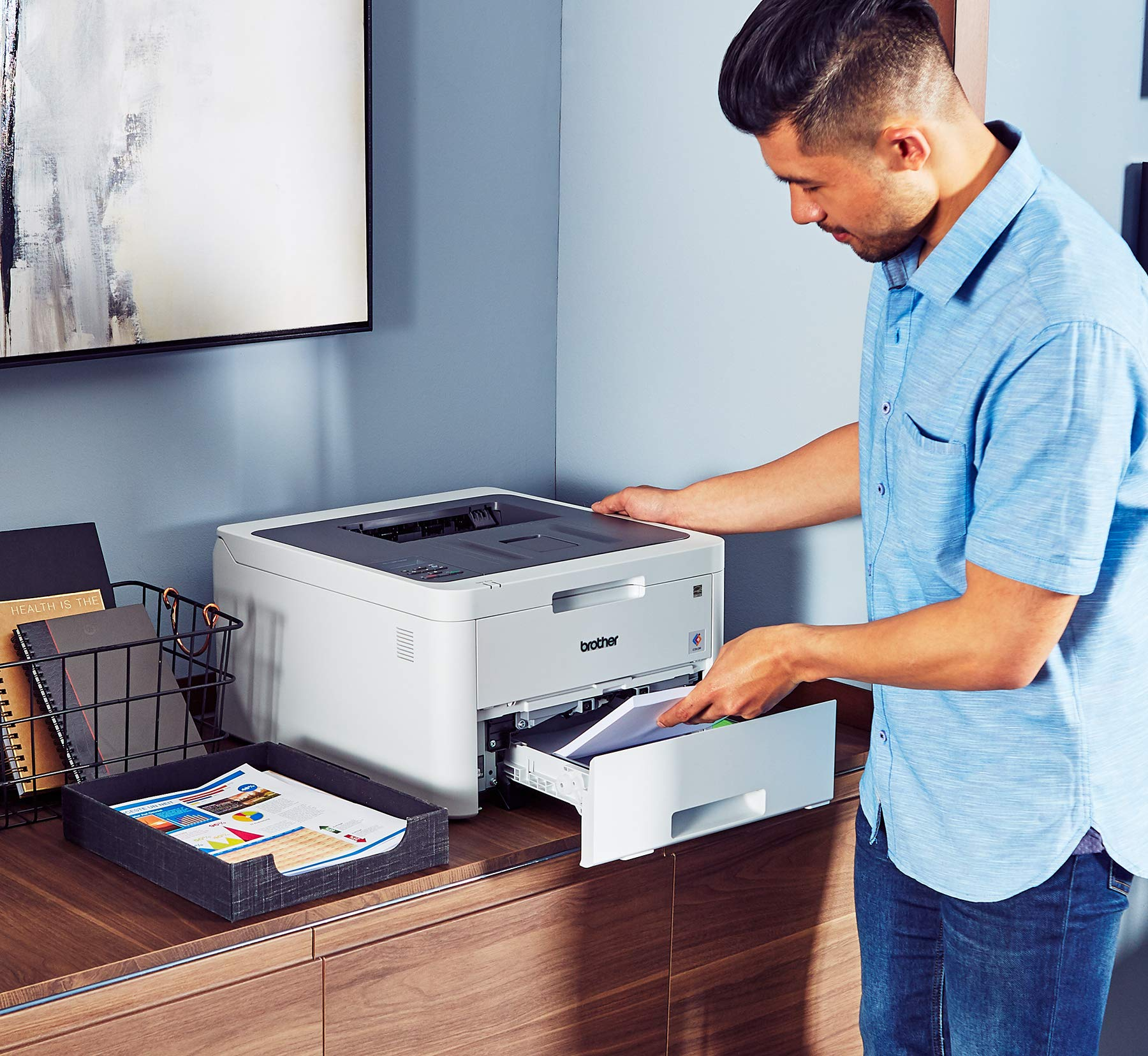 Brother HL-L3210CW Compact Digital Color Printer Providing Laser Printer Quality Results with Wireless, Amazon Dash Replenishment Enabled, White by Brother (Image #5)