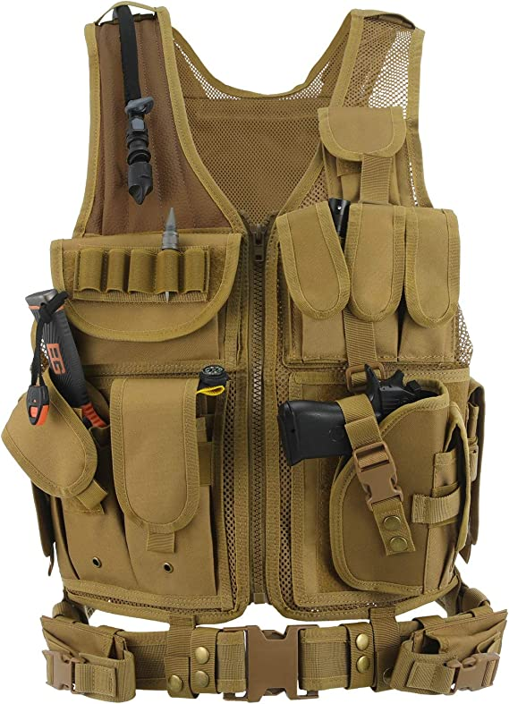 Lixada Casco T/áctico Militar Casco de Operaciones de Campo de Guerra CS Equipamiento de Juegos Equipo de Protecci/ón Deportiva