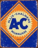 "Desperate Enterprises Allis Chalmers Logo Tin Sign, 12.5"" W x 16"" H"