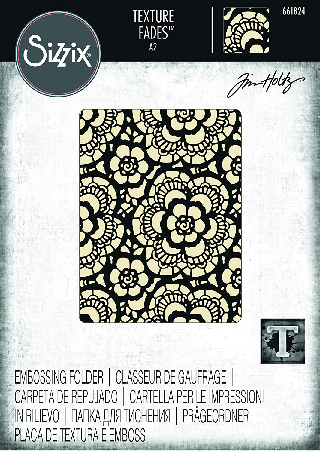 Sizzix Butterfly /& Lace Embossing Folder 4.5x6.5 works in most machines