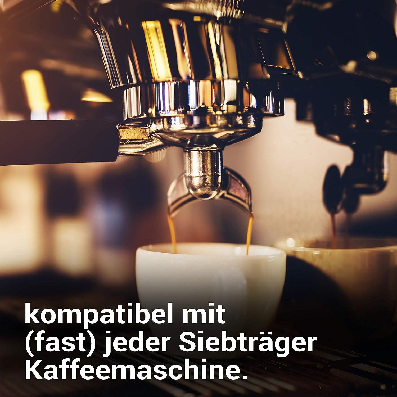 Pr/äziser 51mm Stempel f/ür Siebtr/äger Kaffeemaschinen K/&J Kitchen/® Barista Tamper Extra schwere TamperBasis zum perfekten Verdichten