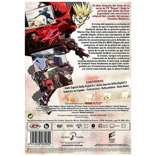 Trigun Badlands Rumble [DVD]: Amazon.es: Animación, Satoshi ...