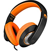 Rockpapa Comfort+ Over Ear Headphones Earphones with Microphone & Volume Control for Kids Childs Adults, Mobile Laptops…