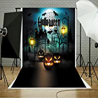 Abeststudio 5x7FT Halloween Photo Cloth Backdrop Photography Background for Halloween Party Decorations Studio Photo Props
