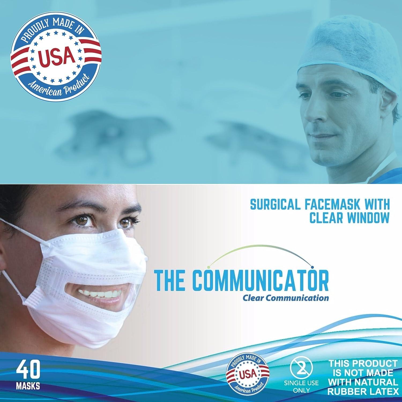 Quirúrgico Con Communicator Cara Ventana Máscara Transparente