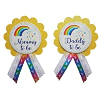 Mommy to Be & Daddy to Be Pin Rainbow Baby Shower Pin for parents to wear, , It's a Girl, It's a Boy Baby Sprinkle