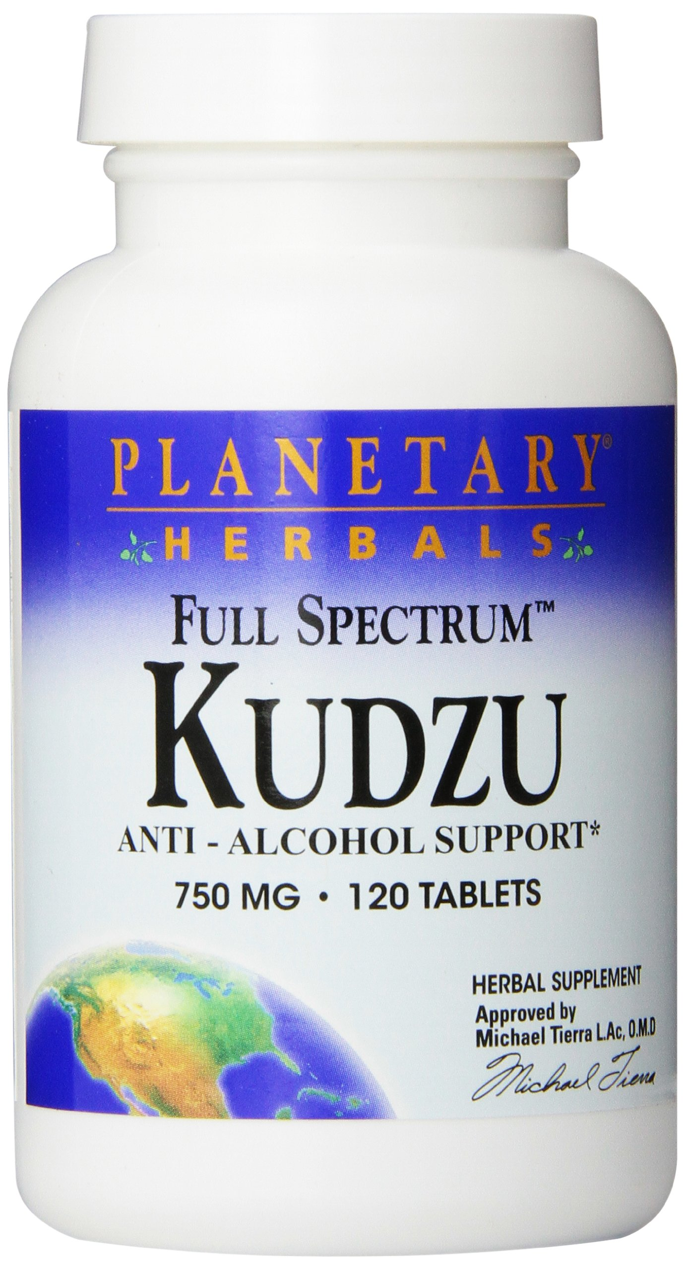 Planetary Herbals Full Spectrum Kudzu Tablets, 120 Count