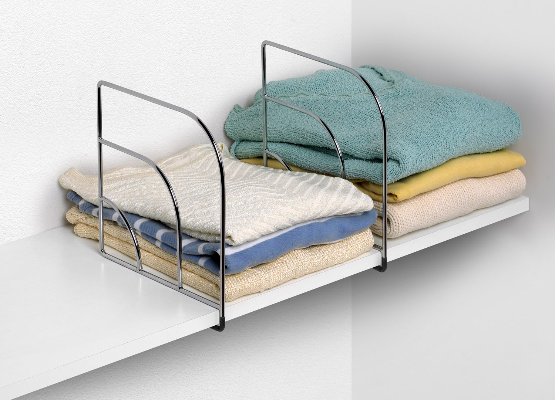 77070 Small Chrome Spectrum Diversified Designs Inc Spectrum Diversified Over The Shelf Divider 1-Pair