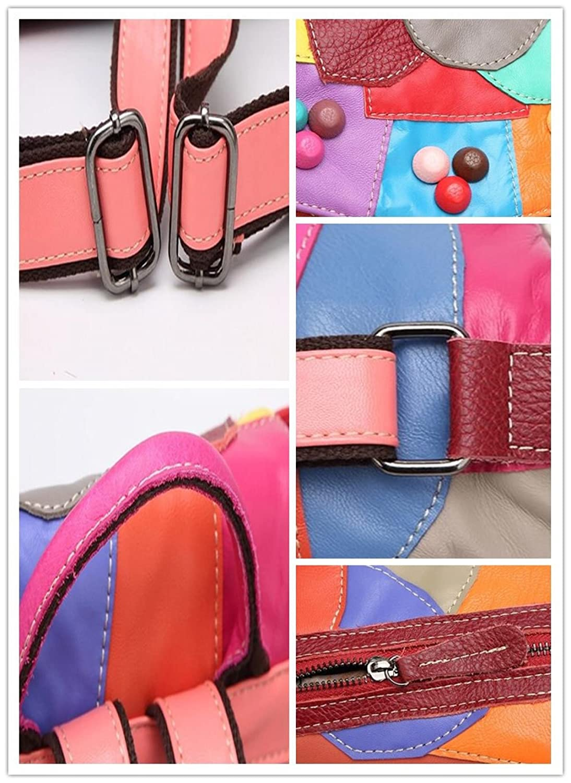 59479a3e7575 Multi colGoldt colGoldt colGoldt Capacity Backpack Ladies Leather ...