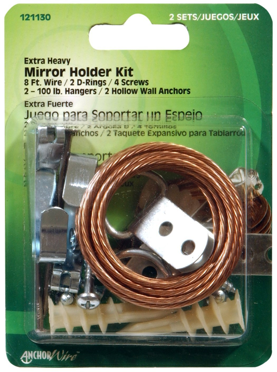 Hillman 121130 heavy duty mirror holder kit 100lbs 11 pieces hillman 121130 heavy duty mirror holder kit 100lbs 11 pieces picture hanging hardware amazon jeuxipadfo Image collections