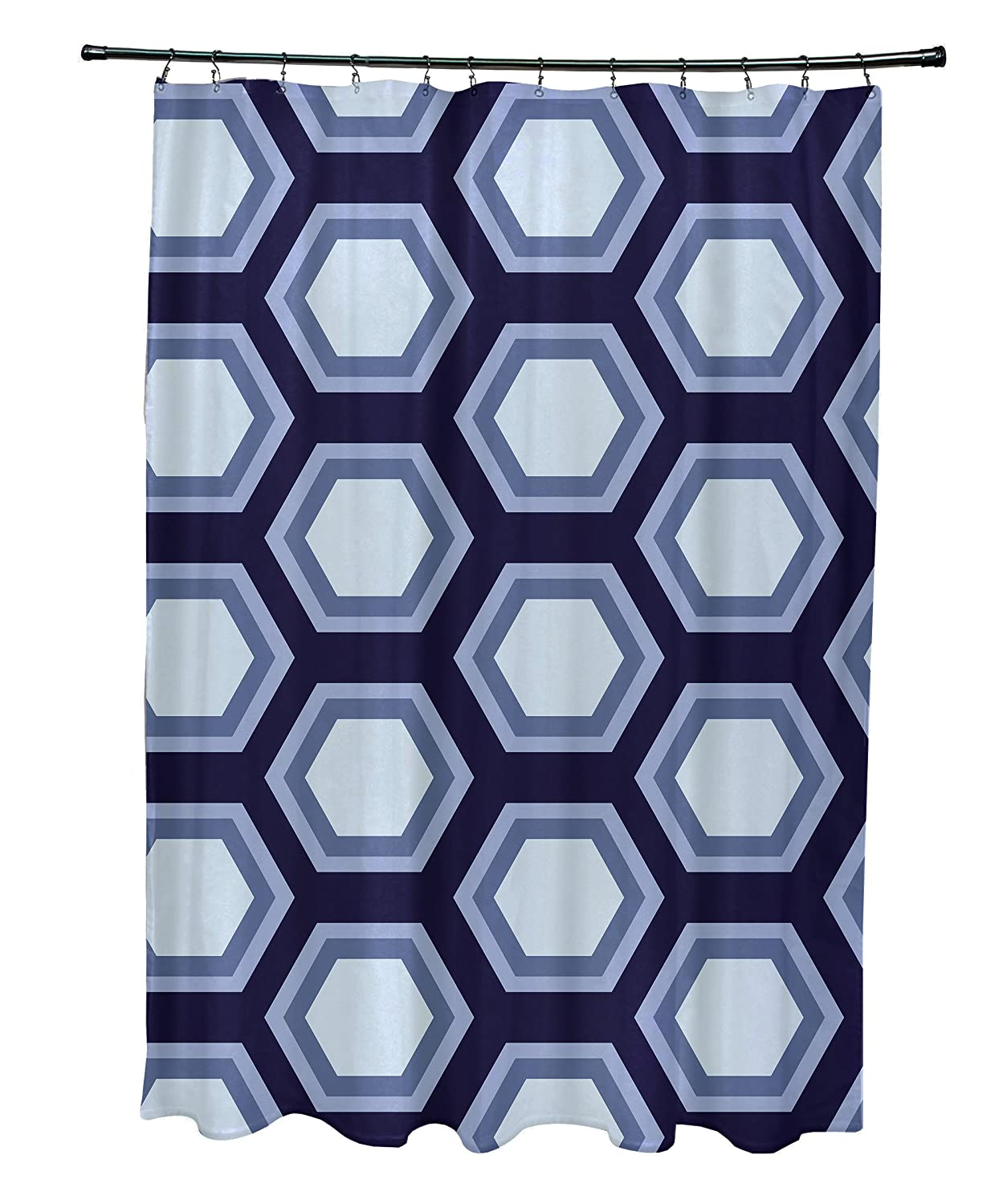 Bewitching E by design Hex Appeal Geometric Print Shower Curtain