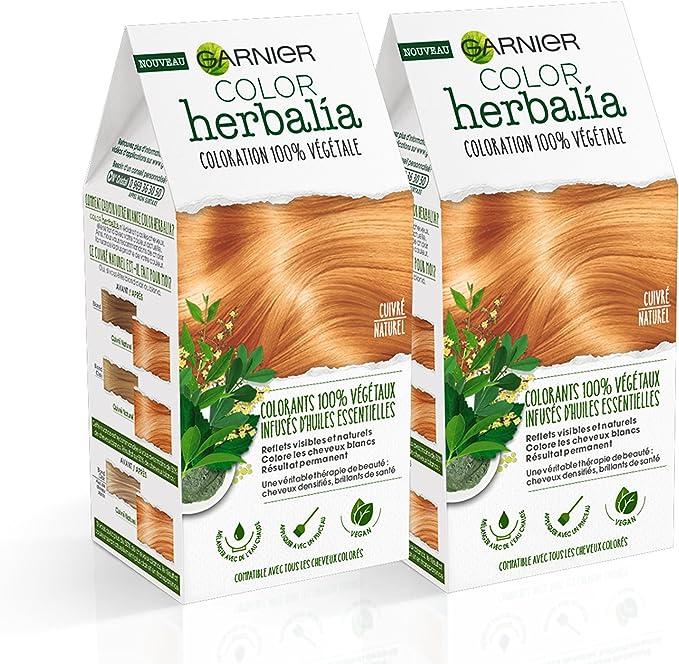Color herbalia Coloración 100% vegetal cobre Natural – Juego de 2