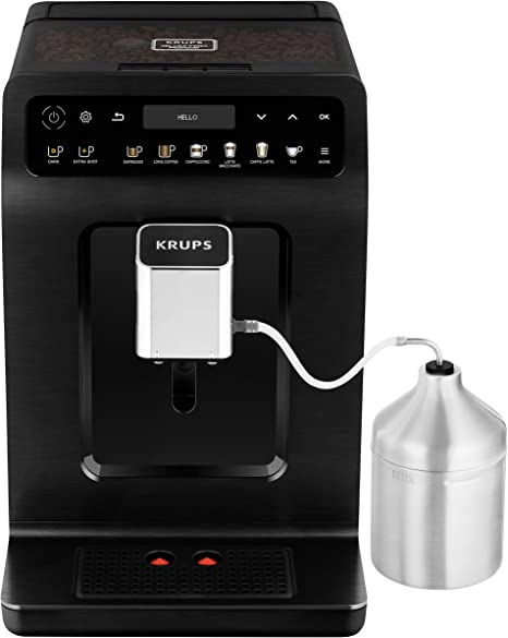 Krups Evidence Plus - Cafetera automática Cafetera automática Negro metálico.: Amazon.es: Hogar