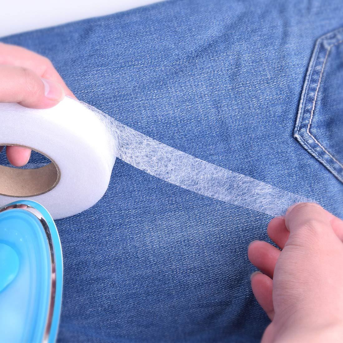 Hotusi 2 Pack 70 Yards Fabric Fusing Tape Adhesive Hem Tape Iron-on Adhesive Tape Hemming Tape