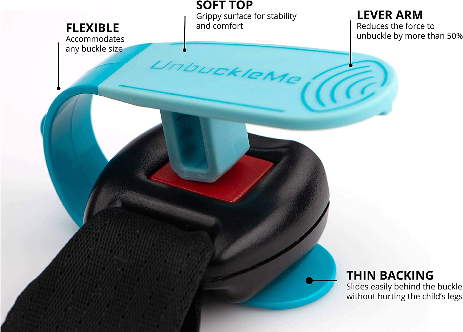 As Seen on Shark Tank 1 Pack, Aqua UnbuckleMe Car Seat Buckle Release Tool Grandparents /& Older Children Made in USA Easy Tool for Parents Makes it Easy to Unbuckle a Childs Car Seat