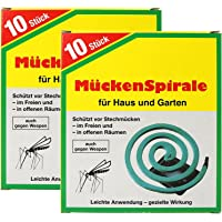 com-four® 20x Espiral Antimosquitos con Soporte- Repelente Mosquitos