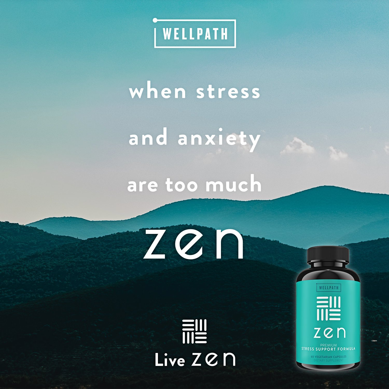 Now And Zen Lower Prenatal Stress >> Amazon Com Zen Premium Anxiety And Stress Relief Supplement