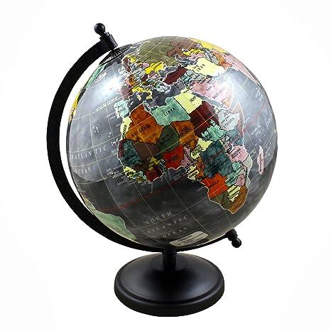 Amazon decorative geography desktop world globe map with stand decorative geography desktop world globe map with stand 105 inches for table dcor gift gumiabroncs Images