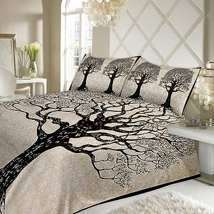 Nice JR Print Oxy Life Tree Double Bedsheet King Size Jaipuri Rajashani 100%  Cotton Multicolor