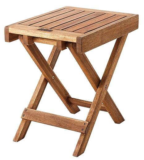 Charmant Azumaya Natural Acacia Wooden Folding Side Table NX 513