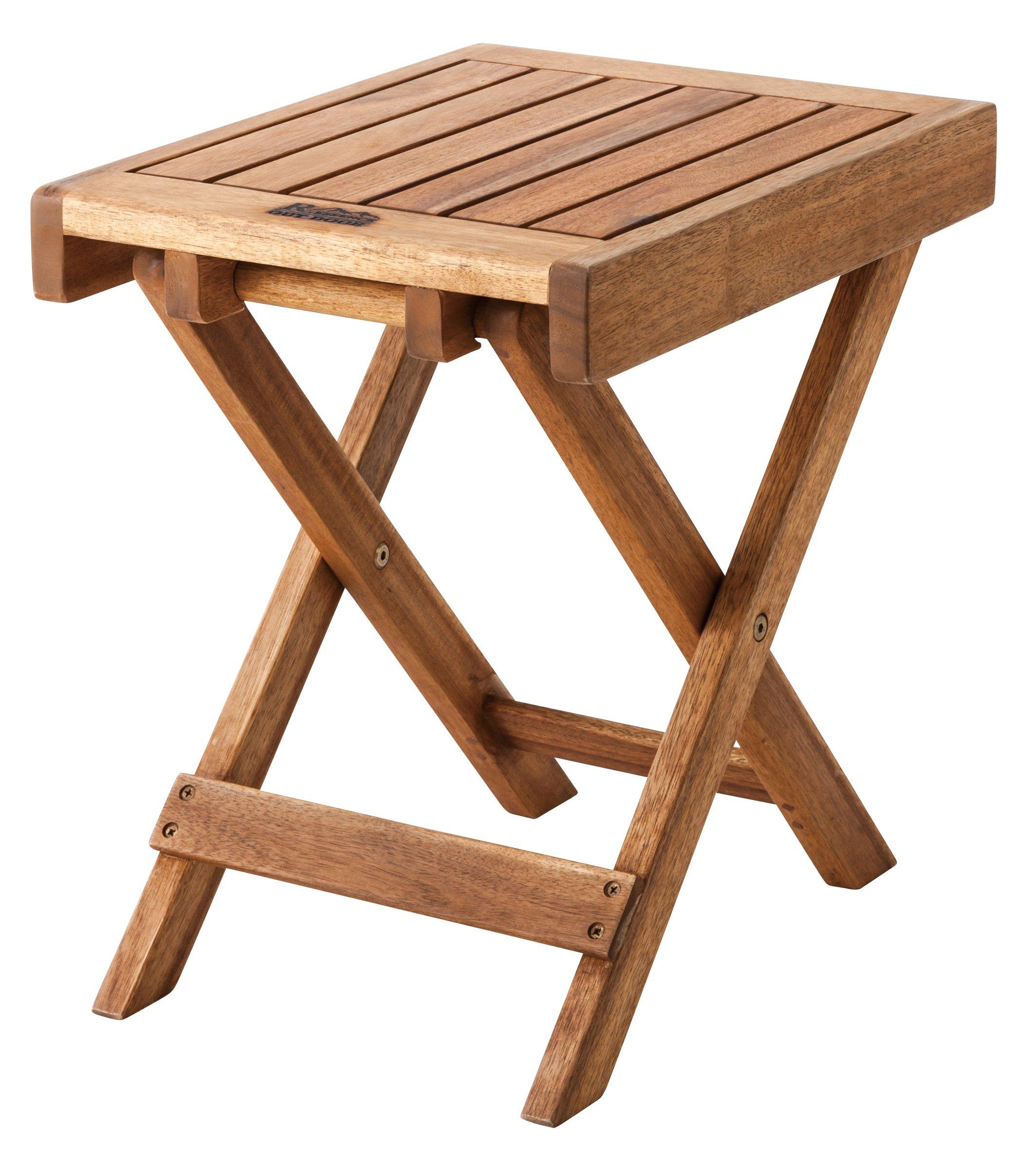 Azumaya Natural Acacia Wooden Folding Side Table NX-513