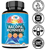 Bacopa monnieri Extract 700mg, Standardized to 50% Bacosides, 120 Vegan Capsules. Non-GMO, Gluten Free by VitaminWay.