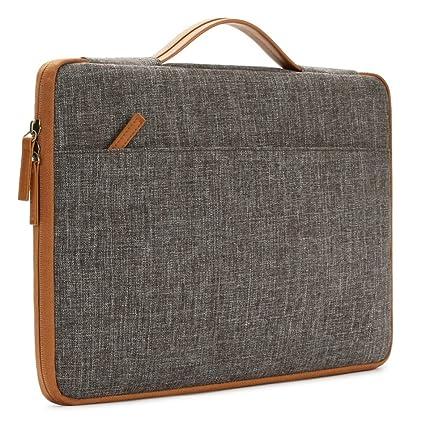 Krisham 15.4 inch Brown Handle Laptop Sleeve