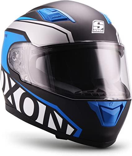Amazon.es: Soxon ST-1000 - Casco integral, Casco de Rostro Completo para Moto, Visera ECE, Cierre rápido, con Bolsa, Azul, M (57-58cm)