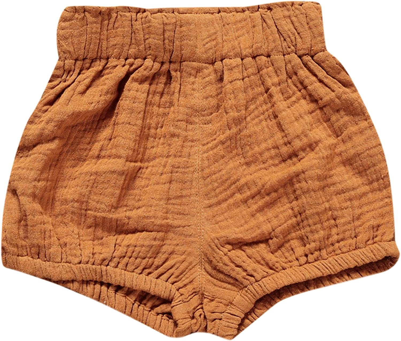 De feuilles Chic-Chic Short B/éb/é Fille Shorty Pantalon Court Taille Haute Casual Mignon Chic Mode Printemps Et/é