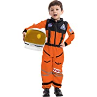 Spooktacular Creations Astronaut NASA Pilot Orange Costume Movable Space Visor Kids Helmet Halloween.