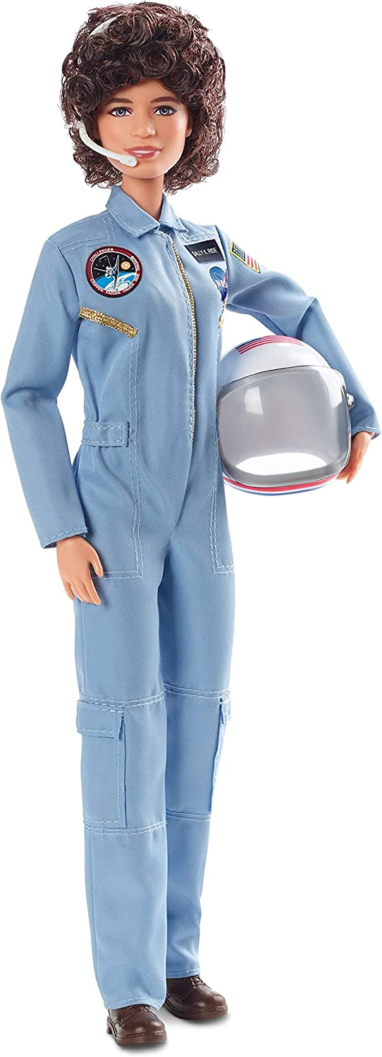 Barbie Inspiring Women Series Sally Ride Collectible Barbie Doll Wearing Fashion and Accessories, with Doll Stand and Certificate of Authenticity, Multicolor
