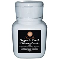 Suwasthi organic Activated Charcoal Teeth Whitening powder (50 gm) with the Power of Clove, Cinnamon, Majuphal, Licorice, Black salt, Orange Peel, Neem and Peppermint