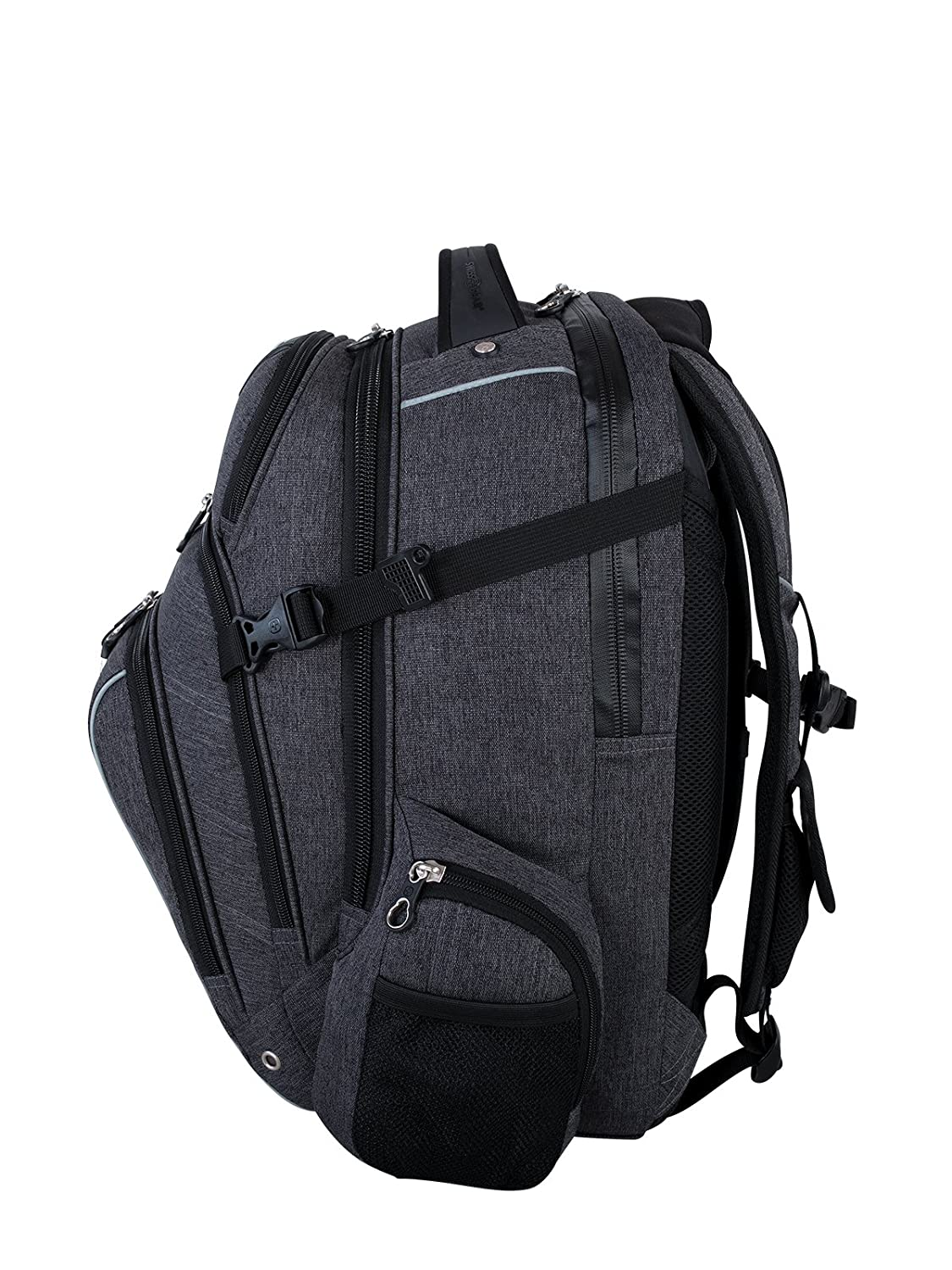 Swiss Gear International Carry-On Size Rainproof Backpack for Laptop Fits 15.6-Inch to 17.3-Inch Laptop Black