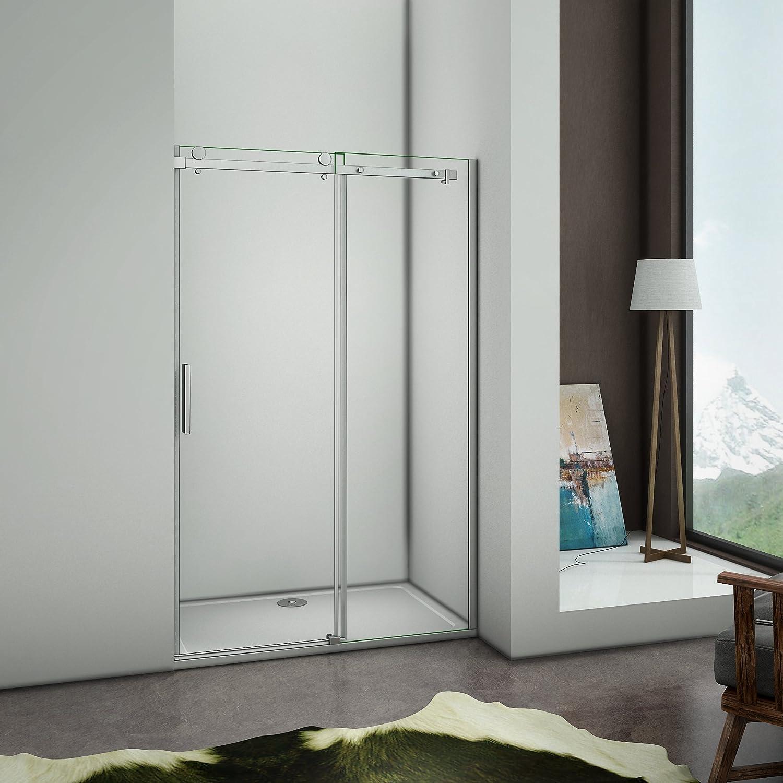 Mampara de ducha con Apertura de puerta Corredera, Antical, 100x195cm: Amazon.es: Bricolaje y herramientas