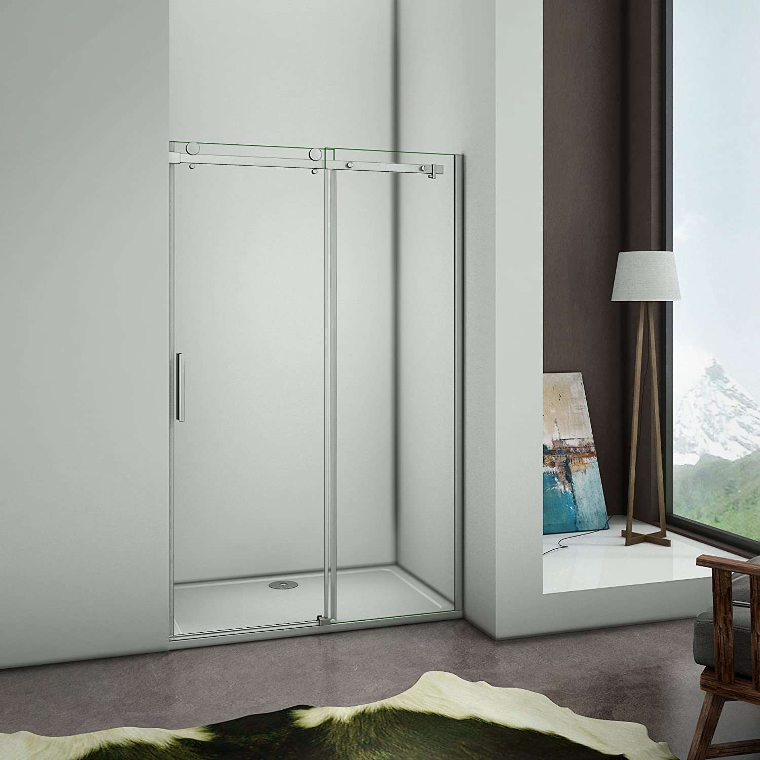 Perfect 1000x1950mm Frameless Sliding Shower Enclosure Door 6mm Safety Glass Screen Cubicle