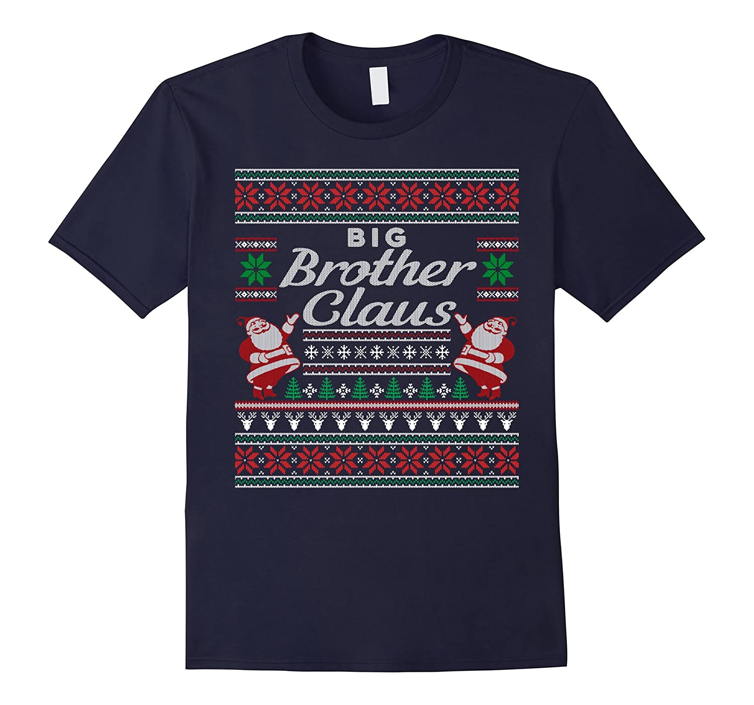 Big Brother Claus Ugly Christmas Sweater T-Shirt Pajamas PJs-FL