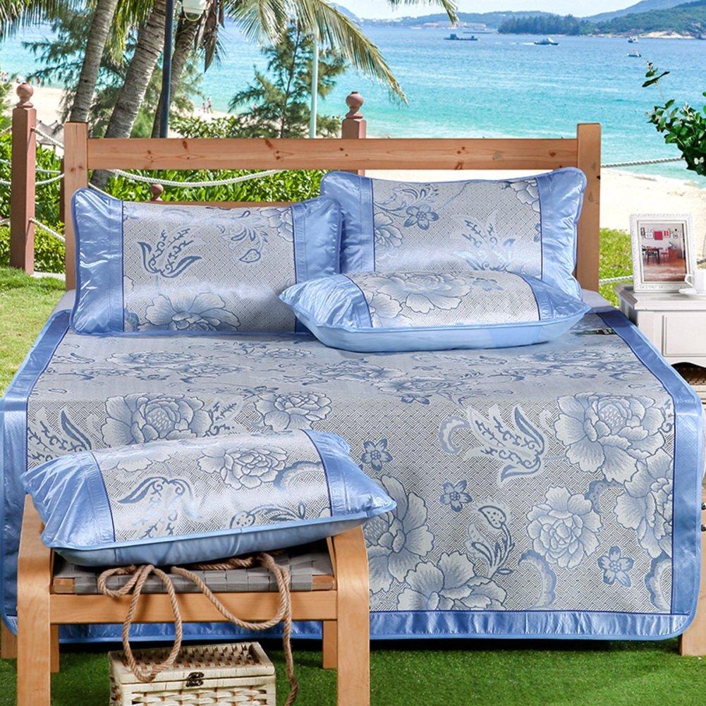 LJ&XJ Three-piece,Soft mattress topper foldable summer sleeping mat,Cooling mattress top mat comfortable lightweight breathable-D King