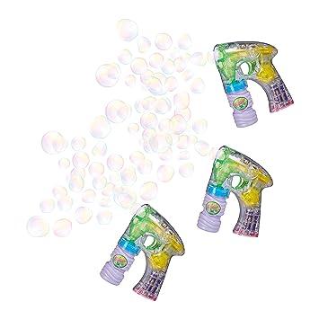 10 x Seifenblasenpistole Kinder Seifenblasenmaschine LED Seifenblasen Bubble Gun