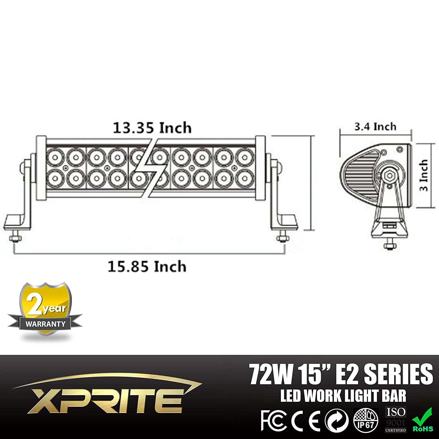 Tuff Stuff Performance 10 Led 12 Off Road Light Bar Flood Wiring Diagram Spot Combo Beam 3w 72w 4500 Beware All Other Resellers Are Selling Lower Grade Lights