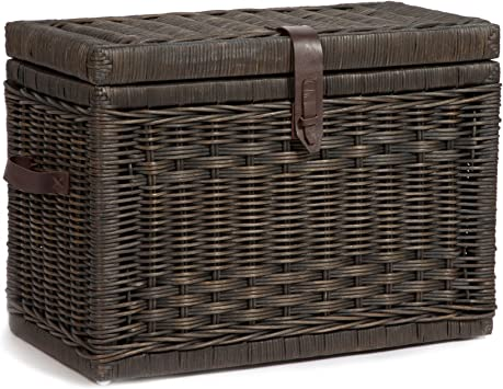 Amazon Com The Basket Lady Wicker Storage Trunk Medium 24 In L