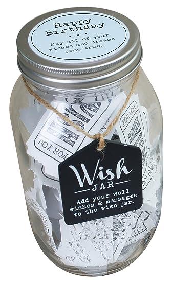 Amazon Com Top Shelf Blue Happy Birthday Wish Jar Personalized