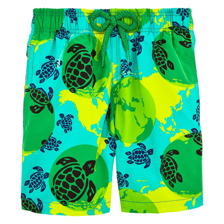 Vilebrequin Mappemonde Dots Swim Shorts - Boys - Veronese Green - 4Yrs