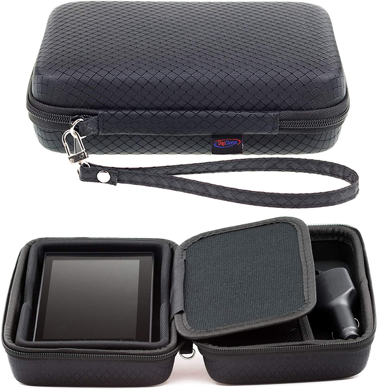 Digicharge® Negro Funda Duro Para Garmin Drive 60LM 61 LMT-S DriveSmart 65 60 LM 61LMT-S Con Asa y Compartimentos Para Accesorios