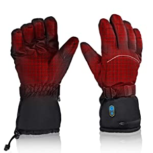 Heated Gloves for Men and Women, Waterproof Arthritis Gloves with Rechargeable Batteries, Long Time Heating for Camping Hiking Fishing Hunting Skiing Sledding Cycling and More