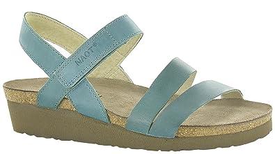 ec4c049efe75 Naot Footwear Women s Kayla Sea Green Leather Sandal 35 (US Women s ...