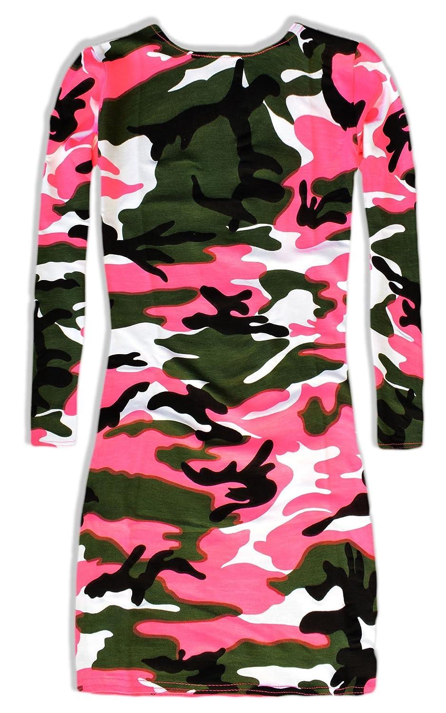 Girls Camo Dress - Girls Dresses - Girls Long Sleeve Dress - Kids Party  Dresses - Girls Pink Camouflage Dress: Amazon.co.uk: Clothing